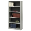 "Safco Value Mate Bookcase - 31.8"" x 13.5"" x 67"" - 5 x Shelf(ves) - Gray - Steel, Fiberboard, Plastic - Assembly Required"