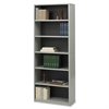 "Value Mate Bookcase - 31.8"" x 13.5"" x 80"" - 6 x Shelf(ves) - Gray - Steel, Fiberboard, Plastic - Assembly Required"