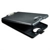 "DeskMate II Portable Desktop Storage Clipboard - 0.50"" Clip Capacity - Storage for Stationary - Bottom Opening - 10"" x 16"" - Low-profile - Polypropylene - Black"