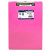 "Saunders Neon Plastic Clipboards - 0.50"" Clip Capacity - Low-profile - Plastic - Neon Pink"