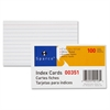 "Sparco Printable Index Card - 3"" x 5"" - 75 lb Basis Weight - 10% Recycled Content - 100 / Pack - White"