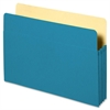 "Accordion File Pocket - 9 1/2"" x 11 3/4"" Sheet Size - 3 1/2"" Expansion - Blue - Recycled - 1 Each"