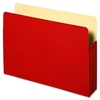 "Sparco Colored Expanding File Pockets - 9 1/2"" x 11 3/4"" Sheet Size - 3 1/2"" Expansion - Red - 2.56 oz - Recycled - 1 Each"