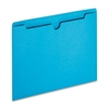 "Sparco Colored File Jacket - Letter - 8 1/2"" x 11"" Sheet Size - 50 Sheet Capacity - 11 pt. Folder Thickness - Blue - Recycled - 100 / Box"