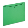 "Colored File Jacket - Letter - 8 1/2"" x 11"" Sheet Size - 50 Sheet Capacity - 11 pt. Folder Thickness - Green - Recycled - 100 / Box"