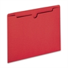 "Sparco Colored File Jacket - Letter - 8 1/2"" x 11"" Sheet Size - 50 Sheet Capacity - 11 pt. Folder Thickness - Red - Recycled - 100 / Box"