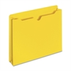 "Sparco Colored File Jacket - Letter - 8 1/2"" x 11"" Sheet Size - 50 Sheet Capacity - 11 pt. Folder Thickness - Yellow - Recycled - 100 / Box"
