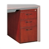 "Mayline Corsica Series Box/Box/File Pedestal for Desk - 15"" x 24"" x 27"" - 3 x Box Drawer(s), File Drawer(s) - Beveled Edge - Material: Wood - Finish: Cherry Veneer, Sierra Cherry"