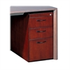 "Mayline Corsica Box/Box/File Pedestal for Credenza - 15"" x 18"" x 27"" - 3 x Box Drawer(s), File Drawer(s) - Beveled Edge - Material: Wood - Finish: Mahogany, Walnut Veneer"
