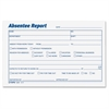 "Absentee Report Form - 100 Sheet(s) - 4"" x 6"" Sheet Size - White Sheet(s) - Blue Print Color - 2 / Pack"