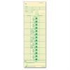 "Pay Receipt Time Card - 10.50"" x 3.50"" Sheet Size - Manila Sheet(s) - Green Print Color - 100 / Pack"