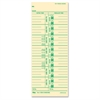 "TOPS Numbered Days Time Cards - 9"" x 3.50"" Sheet Size - Manila Sheet(s) - Green Print Color - 100 / Pack"
