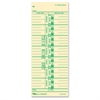 "TOPS Named Days Time Cards - 9"" x 3.50"" Sheet Size - Manila Sheet(s) - Green Print Color - 100 / Pack"