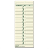 "TOPS Job Cards Time Cards - 8.50"" x 3.50"" Sheet Size - Manila Sheet(s) - Green Print Color - 500 / Box"