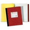 """TOPS Lab Research Book - 100 Sheets - Printed - Both Side Ruling Surface - Letter 9.25"""" x 11"""" - Canary, White Paper - Brown Cover - Pressboard Cover - 1Each"""