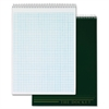 "TOPS Docket Top Wire Quadrille Pad - 70 Sheets - Wire Bound - 8.50"" x 11.75"" - White Paper - Chipboard Cover - Perforated, Hard Cover - 1Each"