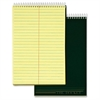 "Docket Steno Pad - 100 Sheets - Printed - Coilock 6"" x 9"" - Canary Paper - Forest Green Cover - Chipboard Cover - 1Each"