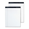 "TOPS Docket Diamond Notepads - 50 Sheets - Watermark - Double Stitched - 24 lb Basis Weight - 8.50"" x 11.75"" - White Paper - Chipboard Cover - 2 / Box"