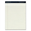 "TOPS Docket Diamond Notepads - 50 Sheets - Watermark - 24 lb Basis Weight - 8.50"" x 11.75"" - Ivory Paper - Chipboard Cover - 2 / Box"