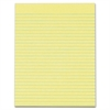 "TOPS Wide Ruled Glue-Top Canary Writing Pads - 50 Sheets - Printed - Glue - Letter 8.50"" x 11"" - Canary Paper - 12 / Pack"