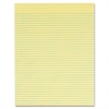 """Gum-top Narrow-ruled Writing Pad - 50 Sheets - Printed - Gummed - Letter 8.50"""" x 11"""" - Canary Paper - 12 / Pack"""