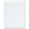 "TOPS Narrow Ruled Glue-top White Writing Pads - 50 Sheets - Printed - Glue - Letter 8.50"" x 11"" - White Paper - 12 / Pack"