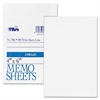 "TOPS White Bond Memo Sheets - 500 Sheets - Plain - Glue - 4"" x 6"" - White Paper - 500 / Pack"