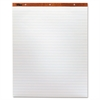 "Horizontal Ruled Easel Pad - 50 Sheets - Printed - Stapled/Glued - 15 lb Basis Weight - 27"" x 34"" - White Paper - 2 / Carton"