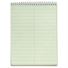 "TOPS Green Tint Steno Books - 60 Sheets - Wire Bound - Ruled - 6"" x 9"" - Green Paper - Hardboard Cover - WireLock - 12 / Pack"