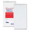 "TOPS Gregg Rule Reporter's Notebooks - 70 Sheets - 4"" x 8"" - White Paper - Pocket - 4 / Pack"