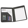 "Victor Professional Pad Holders w/ Calculators - Letter - 8 1/2"" x 11"" Sheet Size - Black - 1 Each"