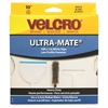 "VELCRO® Brand ULTRA-MATE High Performance Hook and Loop Fastener - 1"" Width x 10 ft Length - 1 / Roll - White"