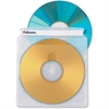 Fellowes Double-Sided CD/DVD Sleeves - 50 pack - Sleeve - Plastic - Clear - 2 CD/DVD