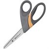 "Westcott Ultra Smooth Scissors - 3.50"" Cutting Length - 8"" Overall Length - Bent - Bent-left/right - Titanium - Gray, Silver/Black"