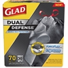 "Glad ForceFlex Drawstring Large Trash Bags - 30 gal - 30"" Width x 32"" Length x 1.05 mil (27 Micron) Thickness - Black - 70/Carton - Office Waste"