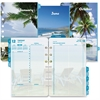 "Day-Timer Coastlines 2 Pages Per Day Daily Refill - Daily - 1 Year - January 2017 till December 2017 - 7:00 AM to 11:00 PM - 1 Day Double Page Layout - 5.50"" x 8.50"" - Tabbed"