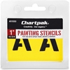 "Chartpak Painting Letters & Numbers Stencil - 1"" - Gothic - Yellow"