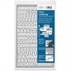 "Chartpak Vinyl Letters and Numbers - 12 Numbers, 167 Capital Letters - Self-adhesive - Easy to Use - 0.50"" Height - White - Vinyl - 1 / Pack"