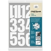 "Chartpak Vinyl Numbers - 23 Numbers - Self-adhesive - Easy to Use - 4"" Height - White - Vinyl - 1 / Pack"