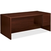 "HON 10700 Series Single Right Pedestal Desk - 72"" x 36"" x 29.5"" - Single Pedestal on Right Side - Waterfall Edge - Material: Wood - Finish: Laminate, Mahogany"