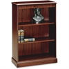 "HON 94000 Series 3-Shelf Bookcase - 49.6"" Height x 35.8"" Width x 15"" Depth - Recycled - Mahogany - 1Each"