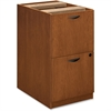 "Basyx by HON BW Series File/File Pedestal - 15.6"" x 22"" x 27.8"" - 2 - Beaded Edge - Material: Veneer, Wood - Finish: Bourbon Cherry"