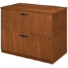 "Basyx by HON BW Series Two Drawer Lateral File - 36"" x 24"" x 29"" - 2 - Beaded Edge - Material: Veneer, Wood - Finish: Bourbon Cherry"