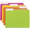 "Smead Neon Colored Folder - Letter - 8 1/2"" x 11"" Sheet Size - 3/4"" Expansion - 1/3 Tab Cut - 11 pt. Folder Thickness - Neon - Recycled - 12 / Pack"