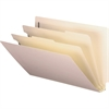 """Smead End Tab Manila Classification Folders - Legal - 8 1/2"""" x 14"""" Sheet Size - 2"""" Expansion - 2 x Prong B Style Fastener(s) - 2"""" Fastener Capacity for Folder - 2 Divider(s) - 18 pt. Folder Thickness"""