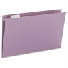 "Smead Colored Hanging Folders with Tabs - Legal - 8 1/2"" x 14"" Sheet Size - 1/5 Tab Cut - Assorted Position Tab Location - Lavender - Recycled - 25 / Box"