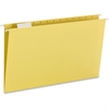 "Smead Colored Hanging Folders with Tabs - Legal - 8 1/2"" x 14"" Sheet Size - 1/5 Tab Cut - Yellow - Recycled - 25 / Box"