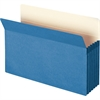 "Smead Colored File Pockets - Legal - 8 1/2"" x 14"" Sheet Size - 5 1/4"" Expansion - Top Tab Location - 9 pt. Folder Thickness - Tyvek - Blue - Recycled - 1 Each"