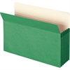 "Colored File Pockets - Legal - 8 1/2"" x 14"" Sheet Size - 5 1/4"" Expansion - Top Tab Location - 9 pt. Folder Thickness - Green - Recycled - 1 Each"