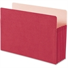 "Smead Colored File Pockets - Legal - 8 1/2"" x 14"" Sheet Size - 5 1/4"" Expansion - Top Tab Location - Tyvek - Red - Recycled - 1 Each"